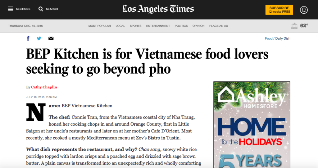 BEP Kitchen is for Vietnamese food lovers seeking to go beyond pho